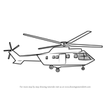 How to Draw Military Helicopter Easy