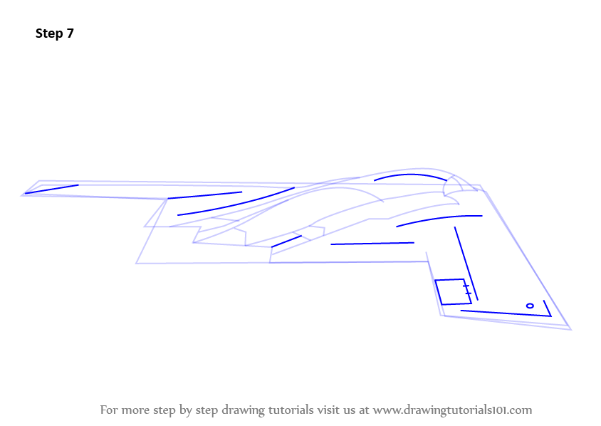 learn how to draw stealth bomber  military  step by step   drawing tutorials