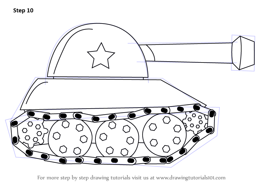how to draw military vehicles step by step