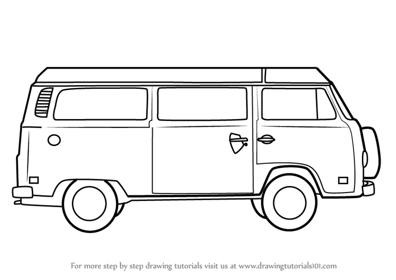 How To Draw A Camper Van