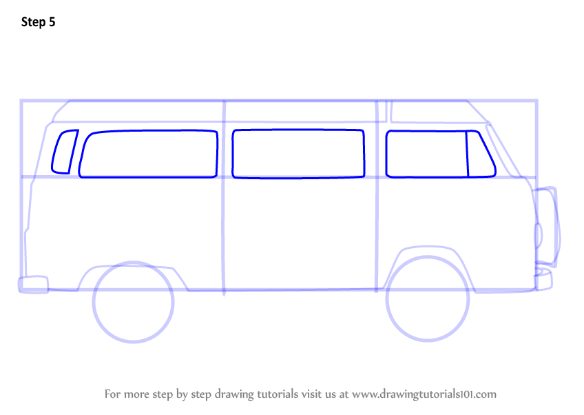 Learn How To Draw A Camper Van Other Step By Drawing Tutorials