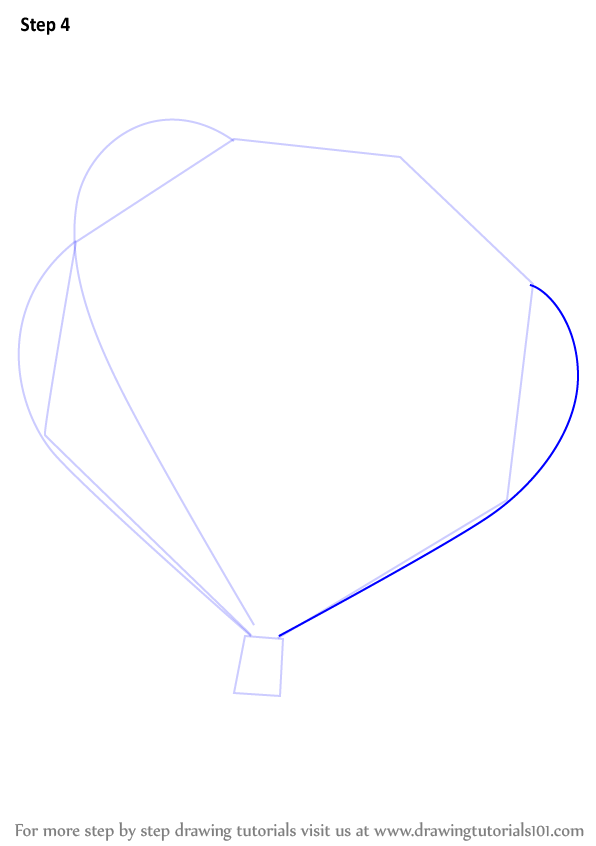 learn how to draw a hot air balloon  other  step by step   drawing tutorials