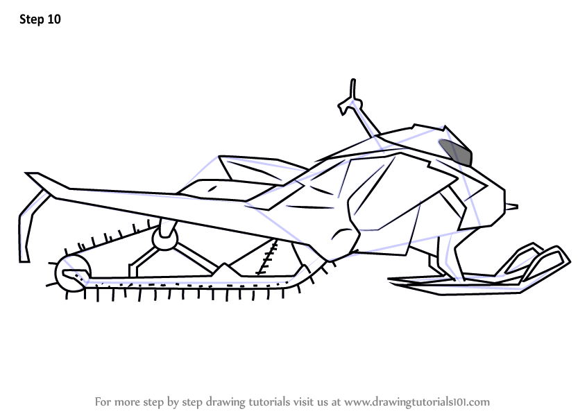 Learn How To Draw A Simple Snowmobile Other Step By Step