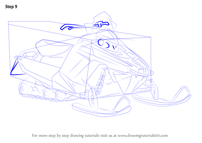 Learn How To Draw A Snowmobile Other Step By Step