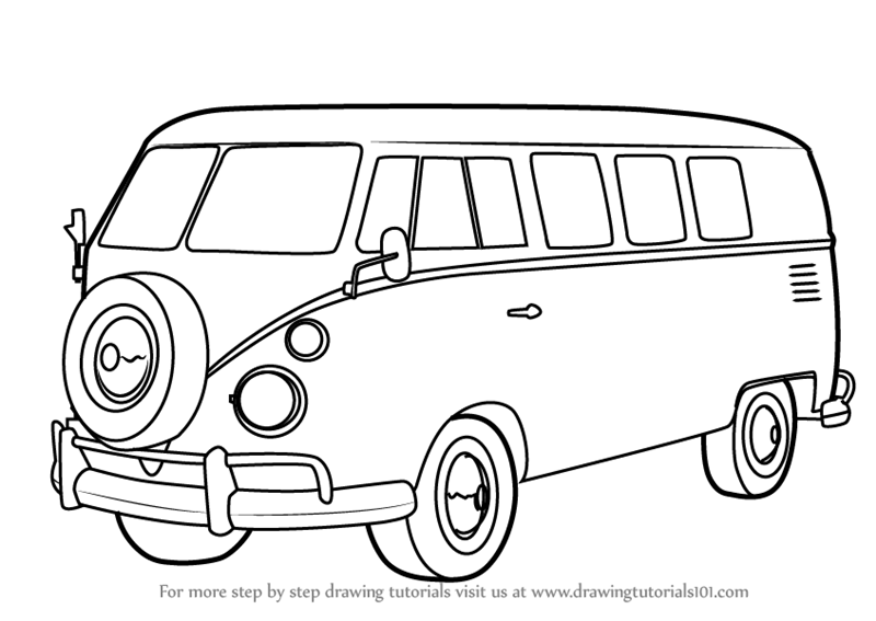 Learn How To Draw Volkswagen Bus Other Step By Step Drawing