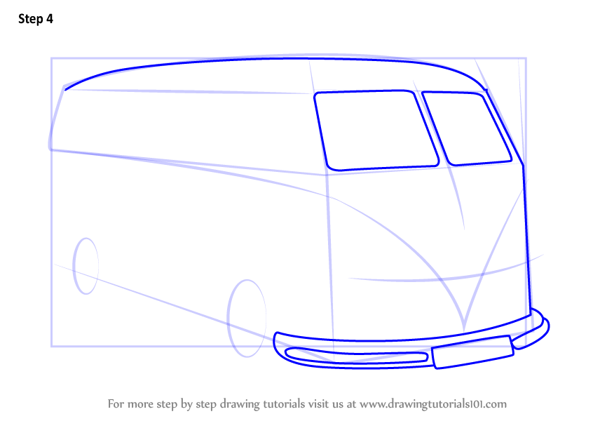 Learn How To Draw Volkswagen Van Other Step By Step Drawing
