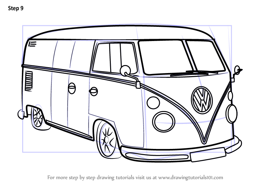 learn how to draw volkswagen other step by step