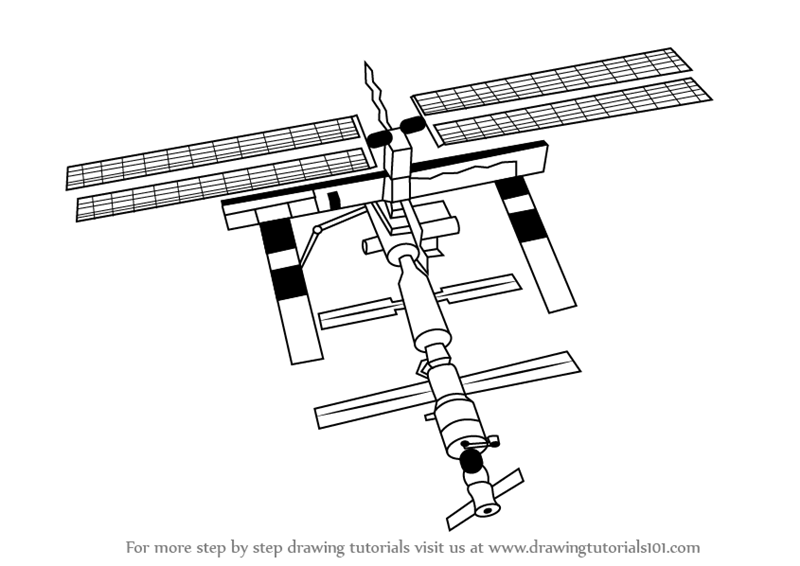 Learn How to Draw a Space Station (Outer Space) Step by ...
