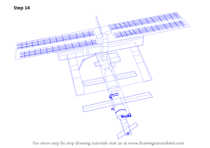Learn How To Draw A Space Station Outer Space Step By Step