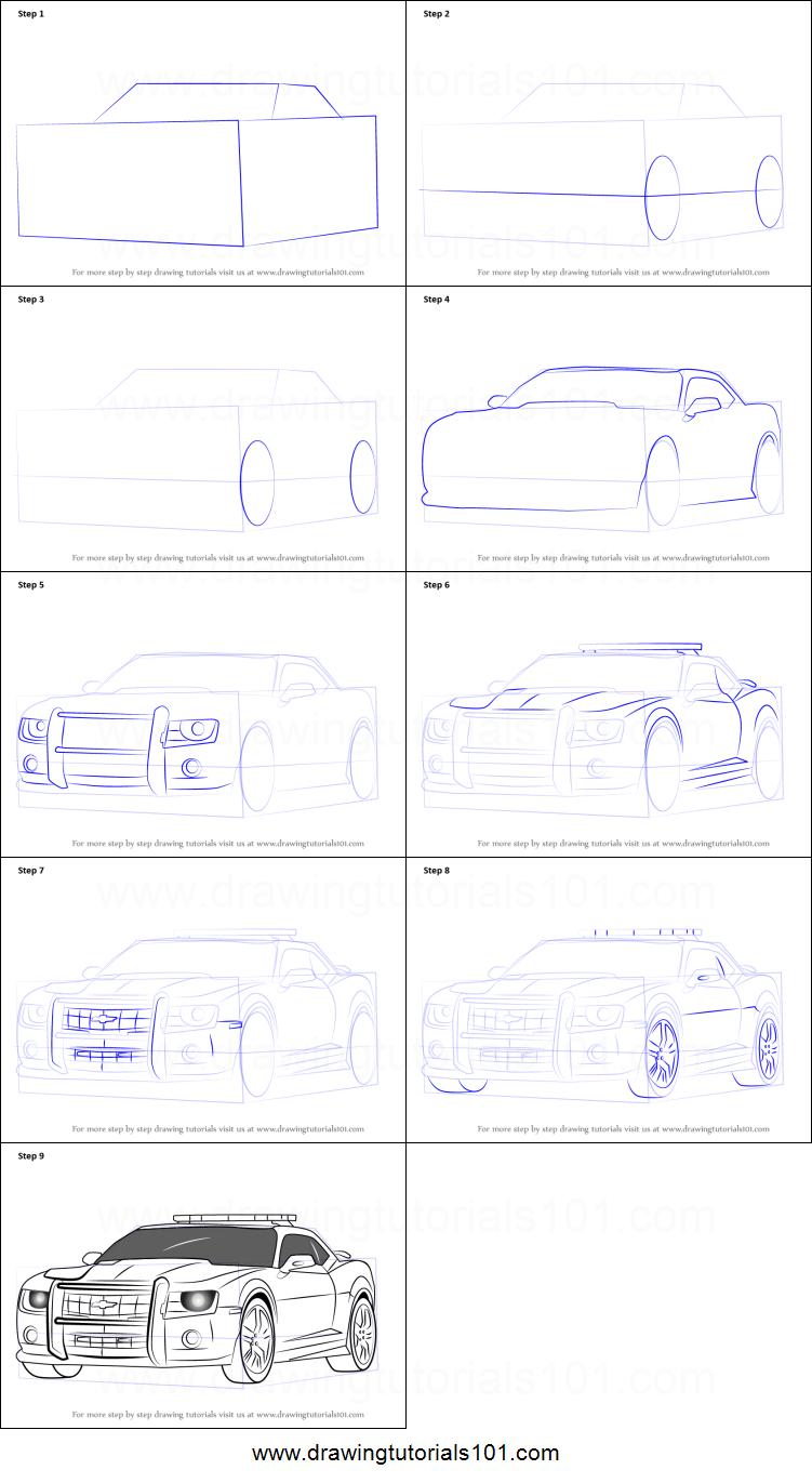 Cara Menggambar Mobil Lamborghini polisi dubai