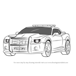 How to Draw Chevrolet Camaro Cop Car