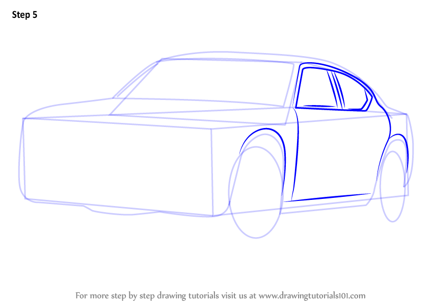 learn how to draw a dodge police car police step by step