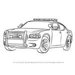 How to Draw a Dodge Police Car
