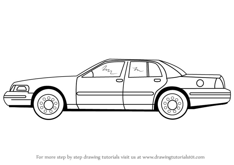 how to draw a realistic police car