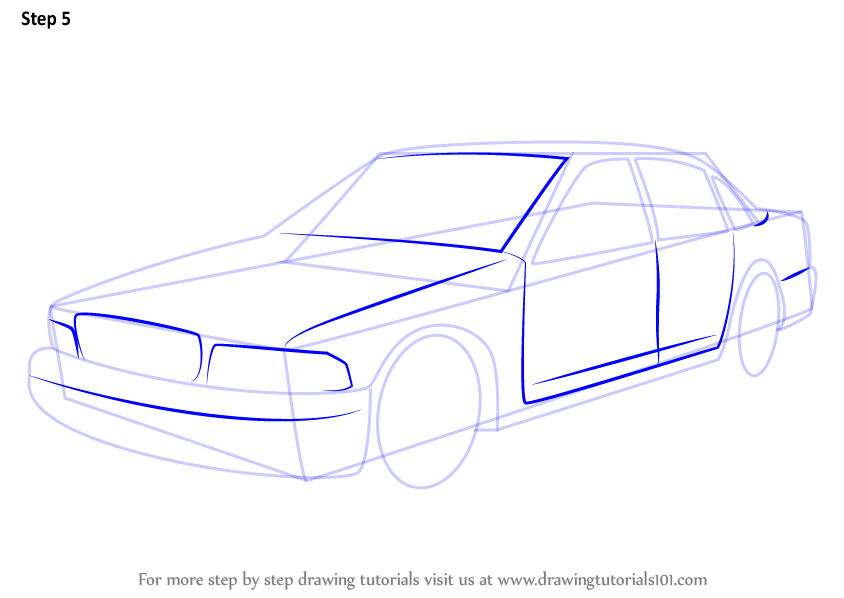Learn How to Draw a Police Car (Police) Step by Step : Drawing Tutorials