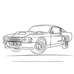 How to Draw a 1968 Mustang