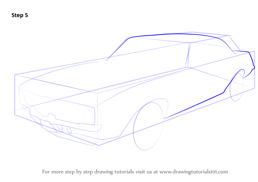 how to draw a camaro easy