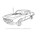 How to Draw a 1969 Camaro