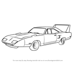 How to Draw 1970 Plymouth Superbird
