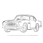 How to Draw Aston Martin DB5 aka James Bond Car