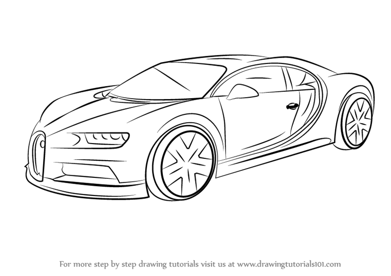 Bugatti Drawings In Pencil Supercar Coloring Page Bugatti Coloring