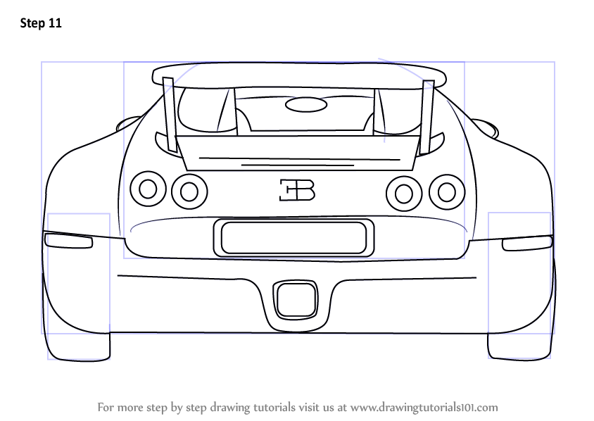 coloring pages car back view - photo#8