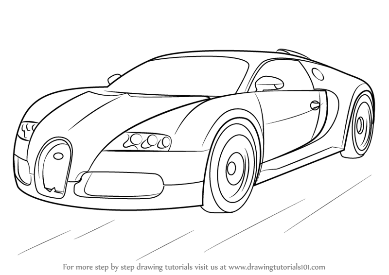 Gentil Learn How To Draw Bugatti Veyron (Sports Cars) Step By Step : Drawing  Tutorials