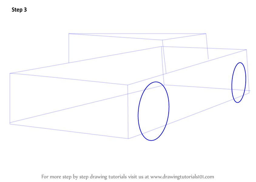 Learn How To Draw Bugatti Veyron Sports Cars Step By Step Drawing Tutorials