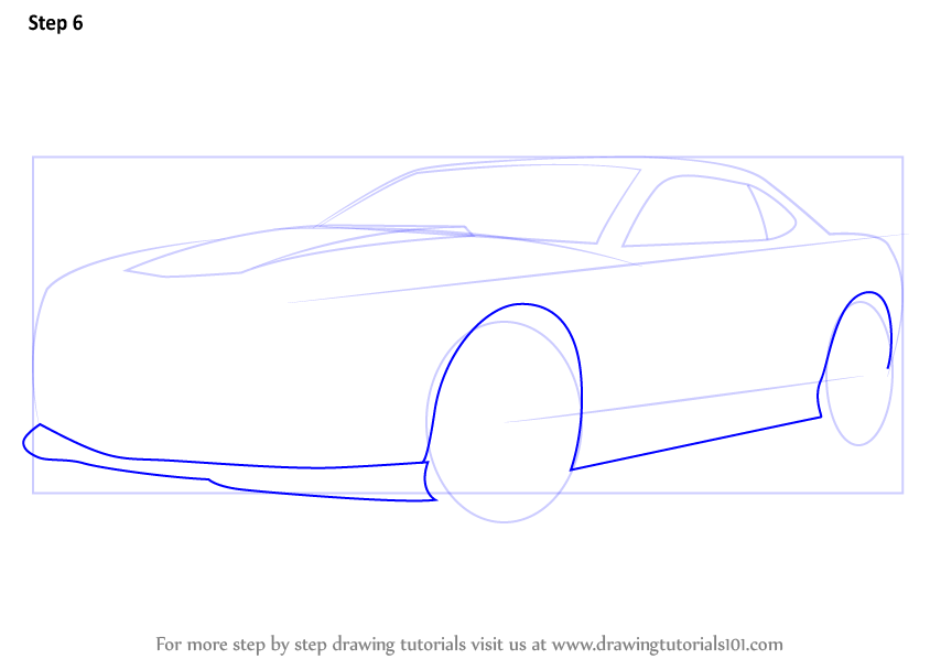 Learn How to Draw a Chevrolet Camaro (Sports Cars) Step by ...