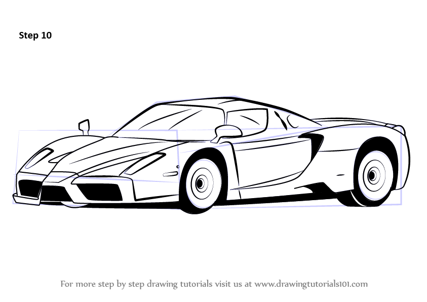 learn how to draw a ferrari enzo sports cars step by step drawing tutorials. Cars Review. Best American Auto & Cars Review