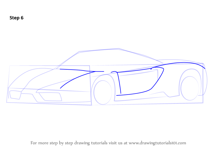 Learn How to Draw a Ferrari Enzo (Sports Cars) Step by Step ...