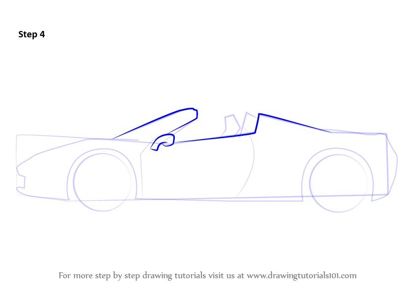 step by step how to draw a ferrari. Cars Review. Best American Auto & Cars Review