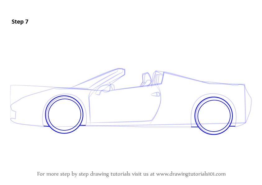 learn how to draw a ferrari sports cars step by step drawing tutorials. Cars Review. Best American Auto & Cars Review