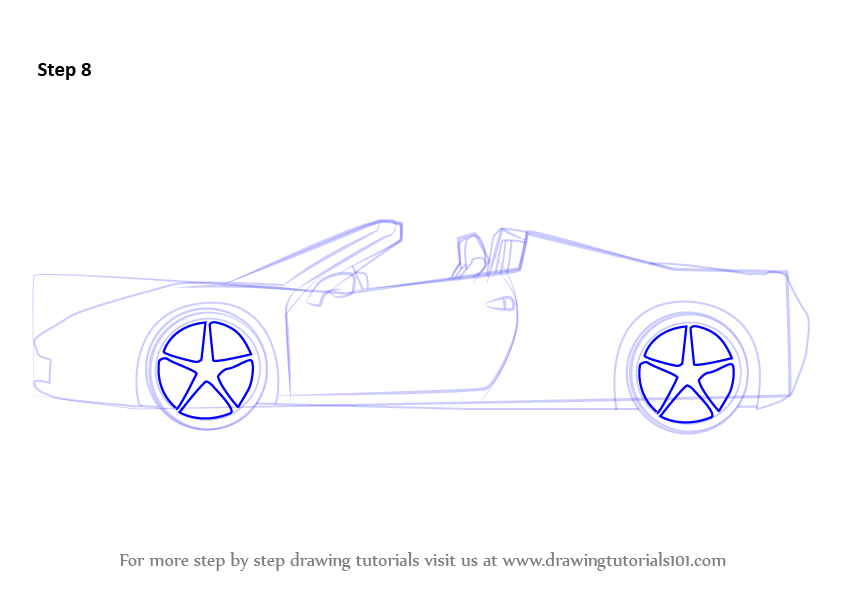 How To Draw A Ferrari Easy For Kids