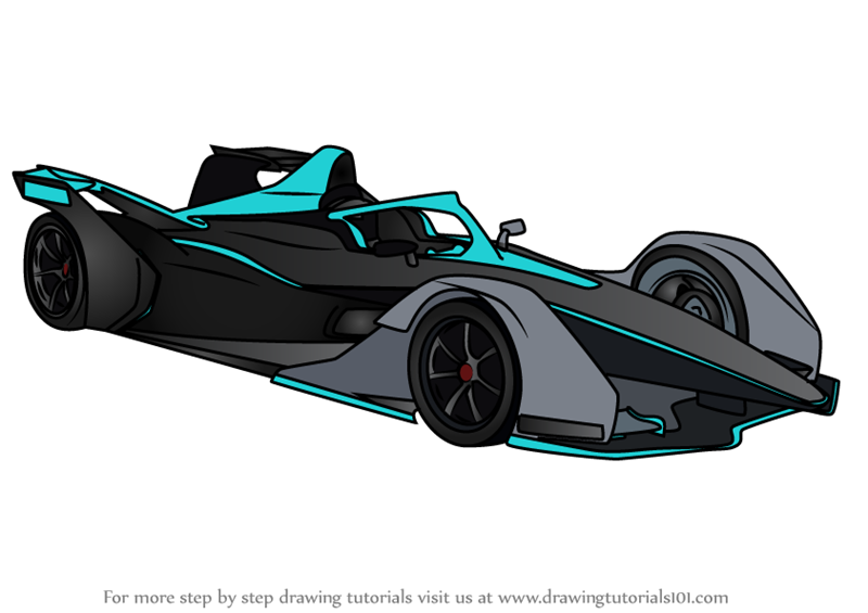 Learn How to Draw Formula E (Sports Cars) Step by Step ...