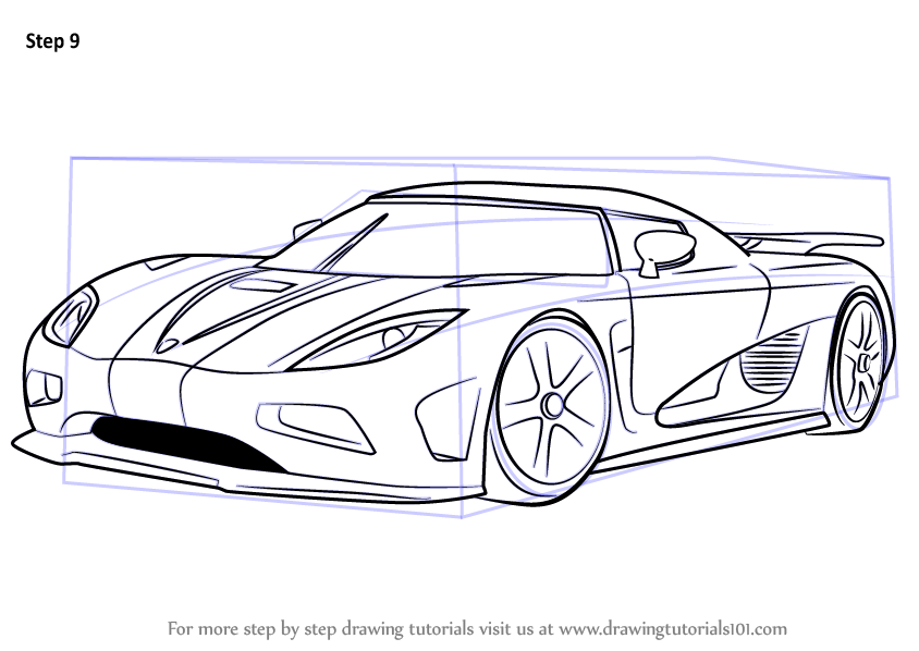 Learn How To Draw Koenigsegg Agera R Sports Cars Step By
