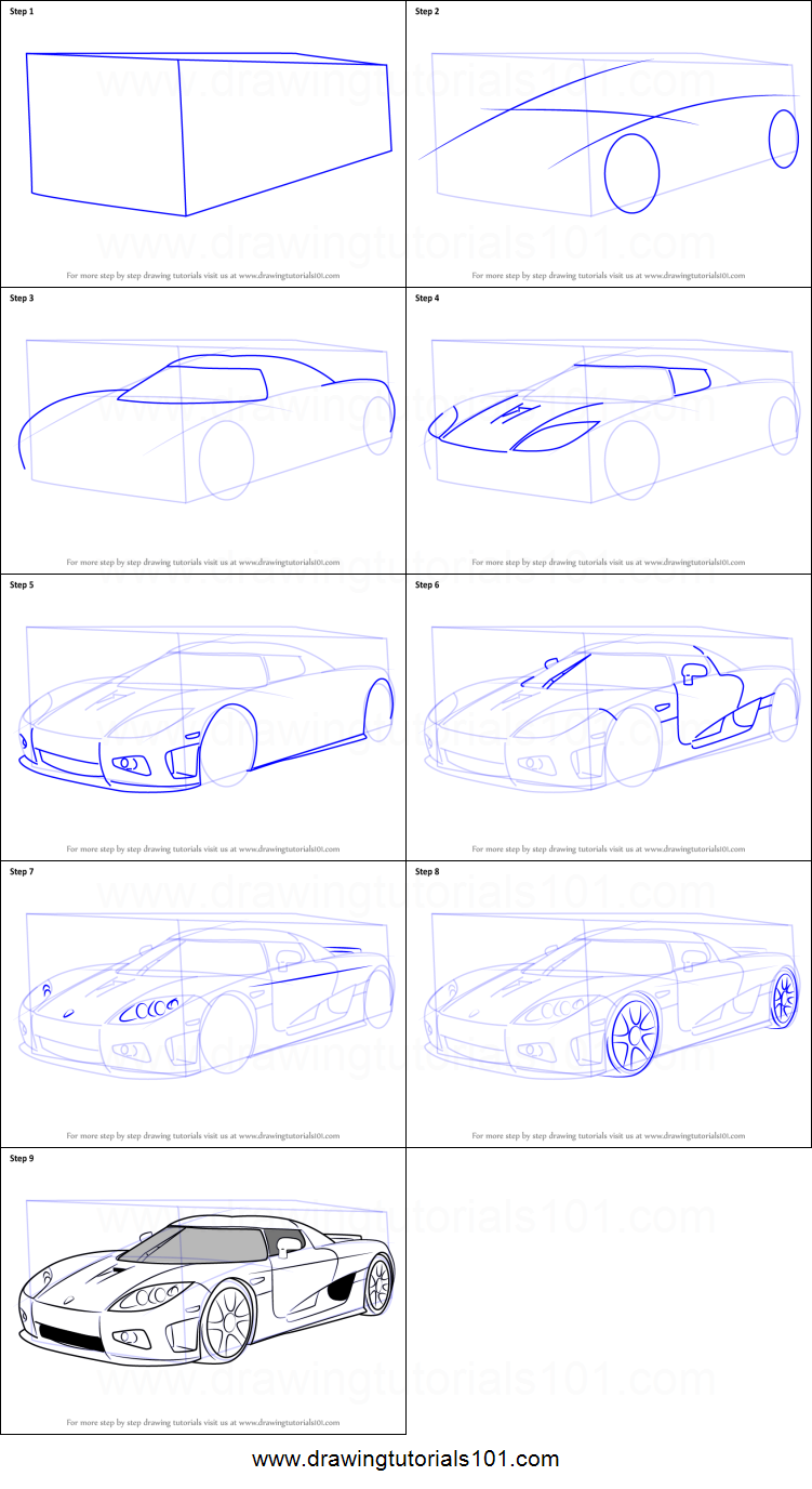 How To Draw Koenigsegg Ccx Printable Step By Step Drawing