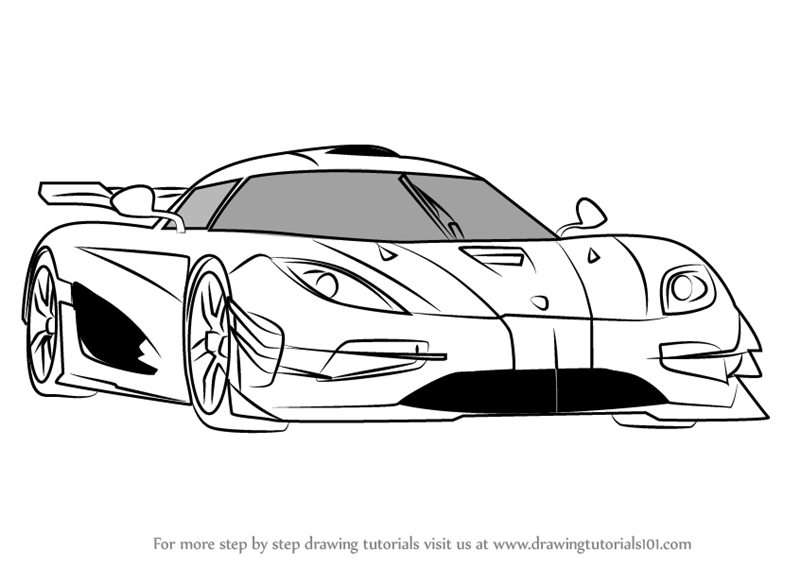How To Draw A Sports Car Step By Step Video