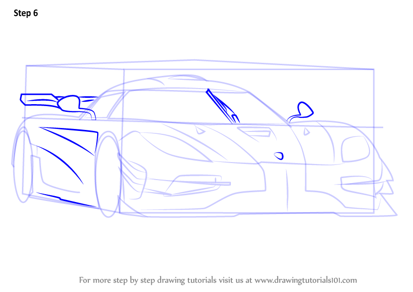 Step By Step How To Draw Koenigsegg One