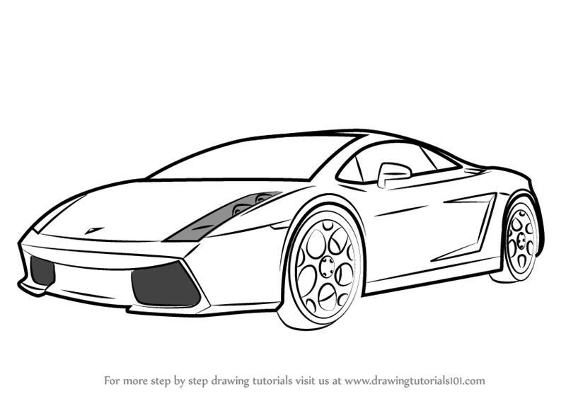 Learn How To Draw A Lamborghini Car Sports Cars Step By Step
