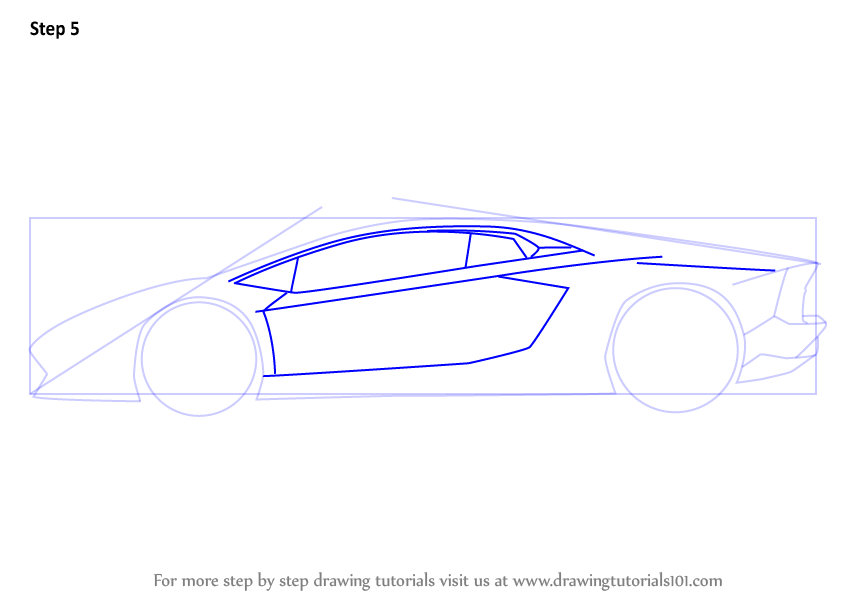 Learn How to Draw Lamborghini Centenario Side View (Sports ...