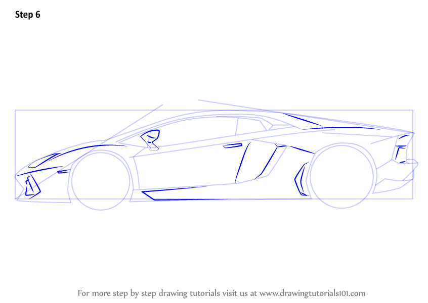 Learn How To Draw Lamborghini Centenario Side View Sports Cars
