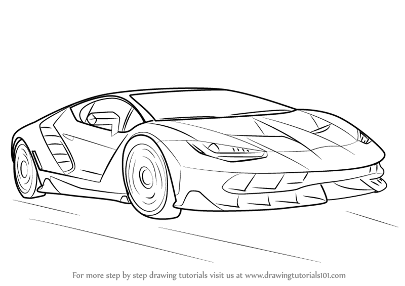 How To Draw Lamborghini Centenario on back to the future car 3