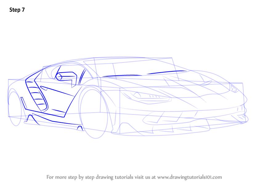 Learn How to Draw Lambhini Centenario Sports Cars