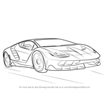 How to Draw Lamborghini Centenario