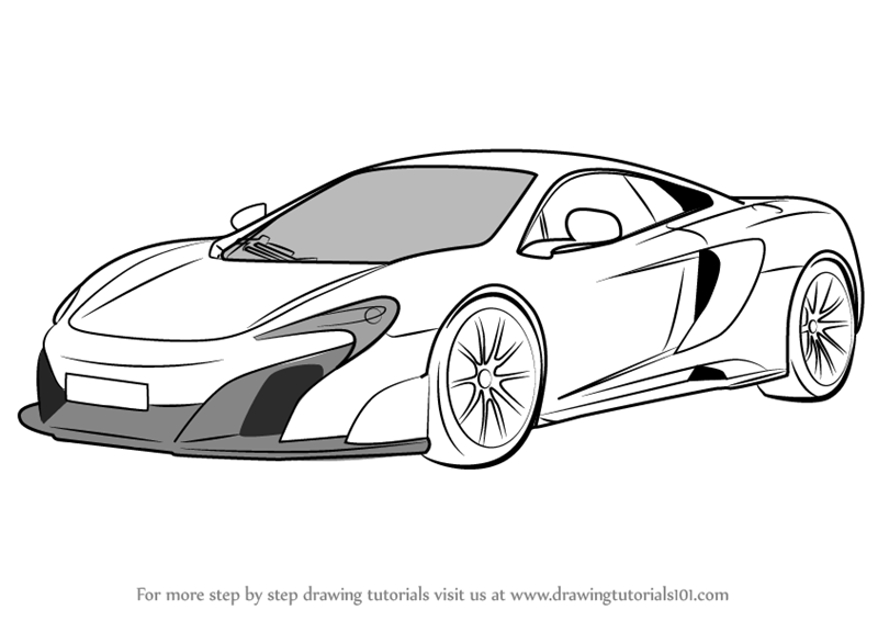 Learn How to Draw McLaren 675LT