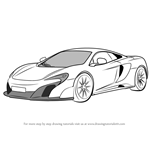 How to Draw McLaren 675LT
