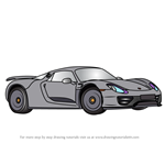 How to Draw a Porsche 918 Spyder