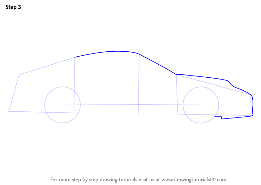 Learn How To Draw A Porsche Car Side View Sports Cars Step