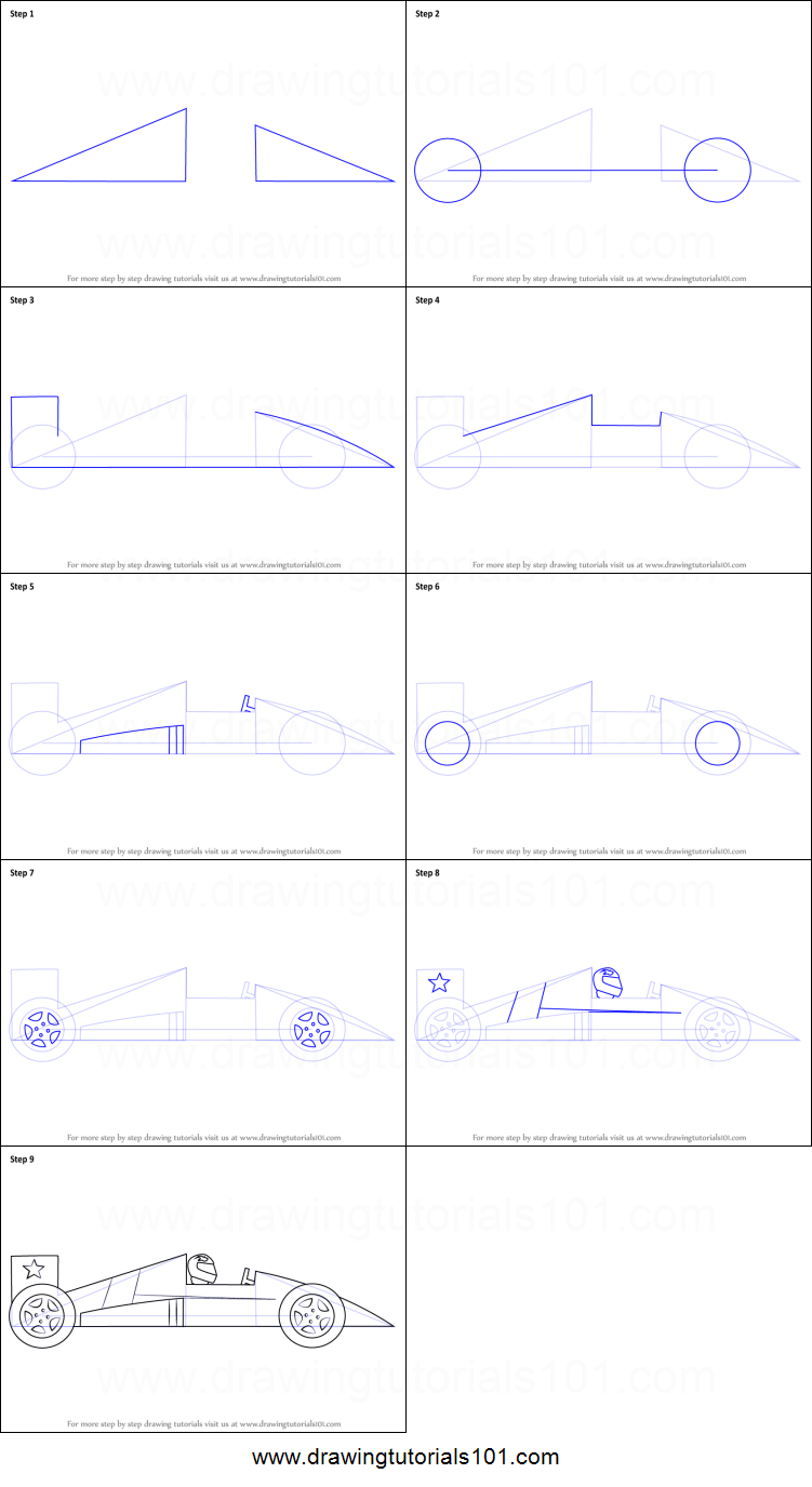 how to draw a racing car for kids